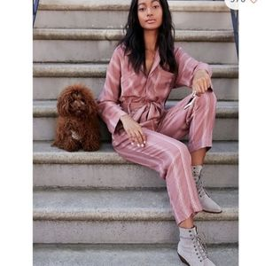 FREE PEOPLE Real Love Striped Jumpsuit Coverall